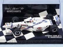 1. Brinquedos antigos - Minichamps - Carro Sterwart Ford SF1 pilotado por Rubens Barrichello Versão GP Canadá Ano 1997