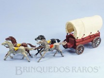 Brinquedos Antigos - Casablanca e Gulliver - Carro�a Casablanca Coberta com quatro cavalos Rodas numeradas 174 e 175 e Travess�es numerados 176 e 177 Primeira S�rie ano 1965