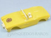1. Brinquedos antigos - Estrela - Carroceria Corvette amarela licença Gilbert Co. Nunca usada Estoque Original de Fábrica Faltam os Espelhos retrovisores Ano 1963