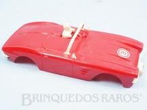 1. Brinquedos antigos - Estrela - Carroceria Corvette vermelha licença Gilbert Co. Ano 1963