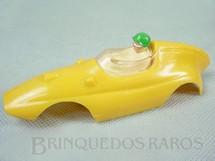 1. Brinquedos antigos - Estrela - Carroceria Formula Junior amarela licença Gilbert Co. Nunca usada Estoque Original de Fábrica Ano 1963