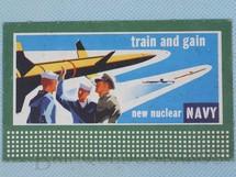 Brinquedos Antigos - Lionel - Cartaz 310 Bilboard Plates New Nuclear Navy Ano 1950 a 1968