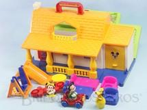 Brinquedos Antigos - Estrela - Casa do Mickey completa com 3 Personagens Carro e Móveis Ano 1992