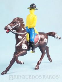 1. Brinquedos antigos - Estrela - Cavaleiro com Cavalo Plástico pintado Ano 1960