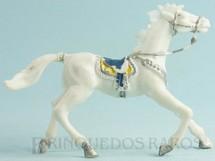 1. Brinquedos antigos - Casablanca e Gulliver - Cavalo de Cowboy branco Casablanca numerado 4 Década de 1960