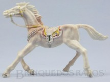 Brinquedos Antigos - Casablanca e Gulliver - Cavalo de Cowboy branco malhado