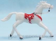 1. Brinquedos antigos - Casablanca e Gulliver - Cavalo de Cowboy branco Distribuído pela Trol e pela Viocena Década de 1970