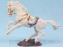 1. Brinquedos antigos - Casablanca e Gulliver - Cavalo de Cowboy branco Série Heróis Década de 1970