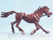 Brinquedos Antigos - Casablanca e Gulliver - Cavalo de Cowboy marrom S�rie Brincalh�es de Forte Apache Ano 1973