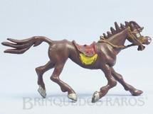 1. Brinquedos antigos - Casablanca e Gulliver - Cavalo de Cowboy marrom Série Brincalhões de Forte Apache Ano 1973