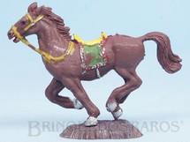 Brinquedos Antigos - Casablanca e Gulliver - Cavalo de Cowboy marrom Série Heróis Década de 1970