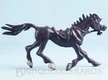 Brinquedos Antigos - Casablanca e Gulliver - Cavalo de Cowboy preto S�rie Brincalh�es de Forte Apache Ano 1973