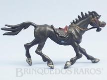 1. Brinquedos antigos - Casablanca e Gulliver - Cavalo de Cowboy preto Série Brincalhões de Forte Apache Ano 1973