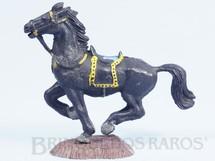 1. Brinquedos antigos - Casablanca e Gulliver - Cavalo de Cowboy preto Série Heróis Década de 1970