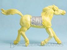 1. Brinquedos antigos - Educa - Cavalo índio amarelo com 10,00 cm de altura Década de 1970