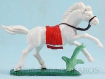 1. Brinquedos antigos - Casablanca e Gulliver - Cavalo índio branco Ano 1986