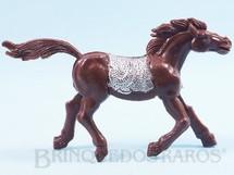 Brinquedos Antigos - Educa - Cavalo índio marrom com 10,00 cm de altura Década de 1970