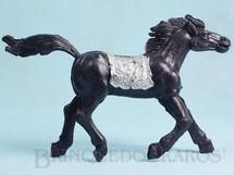 1. Brinquedos antigos - Educa - Cavalo índio preto com 10,00 cm de altura Década de 1970