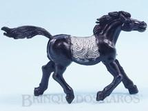 Brinquedos Antigos - Educa - Cavalo índio preto com 10,00 cm de altura Década de 1970