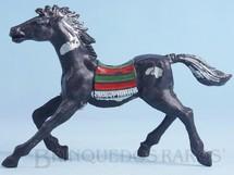 1. Brinquedos antigos - Casablanca e Gulliver - Cavalo índio preto com manchas de tinta prateada
