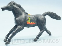 Brinquedos Antigos - Casablanca e Gulliver - Cavalo �ndio preto Fabricado pela Comanche D�cada de 1960