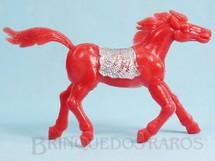 1. Brinquedos antigos - Educa - Cavalo índio vermelho com 10,00 cm de altura Década de 1970