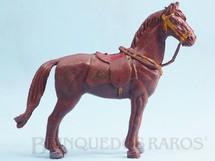 1. Brinquedos antigos - Casablanca e Gulliver - Cavalo de Cowboy marrom Séries Planície Selvagem e Independência ou Morte Década de 1970