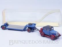 1. Brinquedos antigos - Wiking - Cavalo Mecânico Hanomag ST 100 Veteran com carreta Prancha Década de 1980