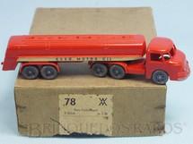 1. Brinquedos antigos - Wiking - Cavalo Mecânico Henschel Bimot com carreta tanque Esso Extra Motor Oil Década de 1950