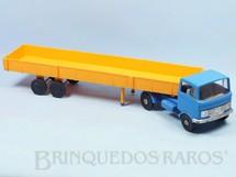 1. Brinquedos antigos - Estrela - Cavalo Mecânico Mercedes Benz LP 608 Caminhão Trans Brasil com carreta 53,00 cm de comprimento Ano de 1972