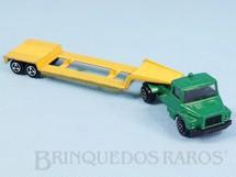 1. Brinquedos antigos - Majorette-Kiko - Cavalo Mecânico Scania Vabis com Carreta prancha Majorette Brésilien Kiko Década de 1980