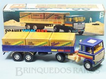 1. Brinquedos antigos - Elka - Cavalo Mecânico Scania Vabis LK141 com carreta 56,00 cm de comprimento Perfeito estado Completo e 100% original Década de 1980