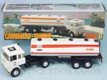 Brinquedos Antigos - Elka - Cavalo Mecânico Scania Vabis LK141 com carreta Tanque Esso 56,00 cm de comprimento Perfeito estado Completo e 100% original Chassi preto Década de 1980
