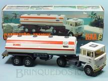 Brinquedos Antigos - Elka - Cavalo Mecânico Scania Vabis LK141 com carreta Tanque Esso 56,00 cm de comprimento Perfeito estado Completo e 100% original Década de 1980