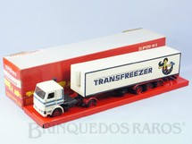 Brinquedos Antigos - Arpra - Cavalo Mec�nico Scania Vabis R142 com Carreta Transfreezer