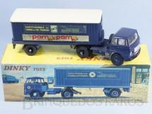 1. Brinquedos antigos - Dinky Toys - Cavalo Mecânico Unic com Carreta da Estrada de Ferro Francesa Tracteur Unic et Semi-Remorque SNCF Ano 1967