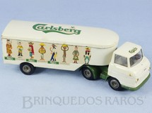 Brinquedos Antigos - Tekno - Cavalo Mec�nico Volvo 458 com Carreta Cerveja Carlsberg D�cada de 1960