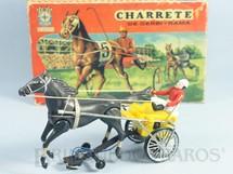 1. Brinquedos antigos - Estrela - Charrete de Derbi-Rama amarela Ano 1968