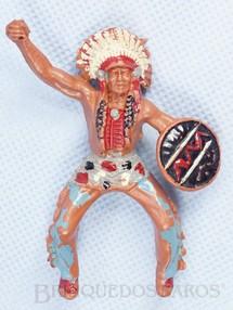 1. Brinquedos antigos - Casablanca e Gulliver - Chefe Índio a cavalo com Escudo falta a lança Década de 1970