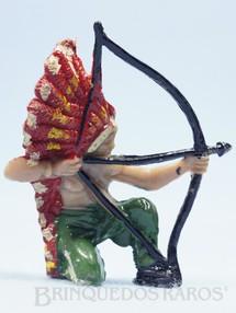 1. Brinquedos antigos - Casablanca e Gulliver - Chefe índio ajoelhado atirando com arco Chefe Flexa Certeira Numerado 133 Década de 1960 RESERVED***GB***