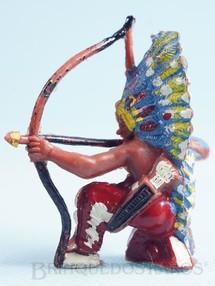 Brinquedos Antigos - Casablanca e Gulliver - Chefe índio ajoelhado atirando com arco Chefe Flexa Certeira Numerado 133 Década de 1960