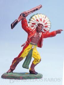Brinquedos Antigos - Casablanca e Gulliver - Chefe índio avançando com rifle Casablanca Década de 1960