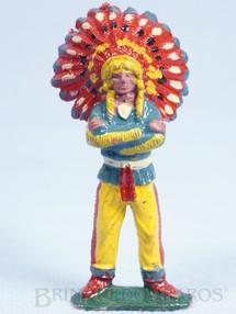 1. Brinquedos antigos - Casablanca e Gulliver - Chefe índio de pé com braços cruzados Chefe Cochise Casablanca numerado 113 Década de 1960