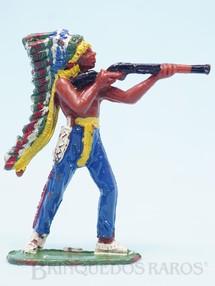 Brinquedos Antigos - Casablanca e Gulliver - Chefe índio de pé atirando com rifle