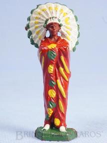 1. Brinquedos antigos - Casablanca e Gulliver - Chefe índio de pé com braços cruzados