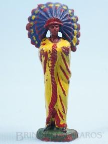 Brinquedos Antigos - Casablanca e Gulliver - Chefe índio de pé com braços cruzados