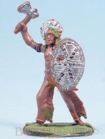 Brinquedos Antigos - Casablanca e Gulliver - Chefe índio de pé com Escudo e Machado Gulliver numerado 23