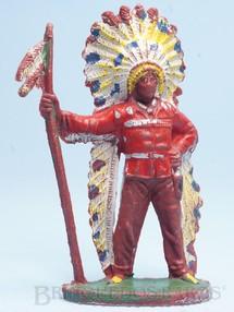 Brinquedos Antigos - Casablanca e Gulliver - Chefe índio de pé com Lança Década de 1960