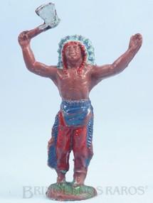 1. Brinquedos antigos - Casablanca e Gulliver - Chefe índio de pé com machado Casablanca Década de 1960