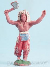 1. Brinquedos antigos - Casablanca e Gulliver - Chefe índio de pé com machado Gulliver numerado 17 sem Bracelete